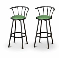 The Furniture Cove - 2 Baby Blue Vinyl Specialty / Custom Black Barstools with Backrest Set Chrome Bar Stools, Black Bar Stools, Counter Height Bar Stools, The Bo, Bar Stools With Backs, Home Bar Furniture, Metal Stool, Adjustable Bar Stools, Chairs