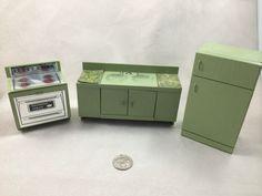 Dollhouse Miniature Hall's Lifetime Toys Tennessee Vintage Kitchen Set 1:12 | eBay