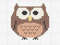 Craft Novice: Free Cross Stitch Owl Pattern. For when I learn to cross stitch...
