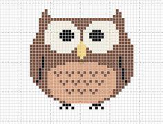 Craft Novice: Free Cross Stitch Owl Pattern. For when I learn to cross stitch...