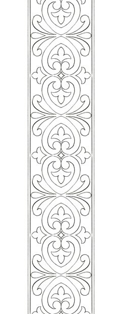 Border Embroidery Designs, Floral Embroidery Patterns, Cutwork Embroidery, Textile Patterns, Quilting Designs, Quilting Stencils, Stencil Patterns, Stencil Designs, Pattern Art