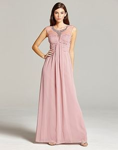 Little Mistress Embellished Maxi Dress Bridesmaid Dresses, Prom Dresses, Formal Dresses, Occasion Wear, Lipsy, Pink Fashion, Dusty Pink, Mistress, Clothes For Women