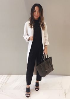 Fall Transition Wardrobe Essentials - Aritzia outfit, Celine bag, Vince Camuto heels