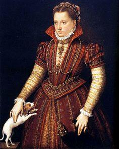 Lavinia Fontana (1552-1614) ~  Portrait of a Noblewoman with Dog