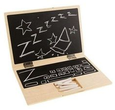 "Instead of the latest ""hot"" toy, this year try to build a wooden toy for your children's birthday! We've got two easy DIY wood toy plans that your children will love for Chalkboard Laptop & Sandbox. Enjoy! :) #FreeWoodworkingPlans #JoineryPlans #SandboxPlan #ChalkboardPlan #ToysPlans #WoodworkingPlansFree #Woodworking #DIY"