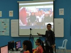 Mr.Yan @MohdAzrizann 4th session: having a #mysteryskype with students from Bai,Philipines ! They still figuring out what country are we from ! #skypeAthon