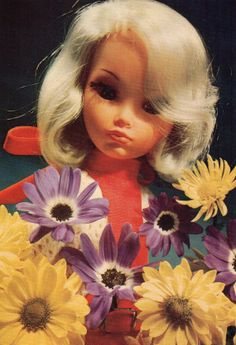 Vintage Doll Postcard  70's Furga doll Italy by CuteEyeCatchers, €3.50