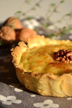 Parsnip, Jerusalem artichoke and nut tartlets - Tartelettes fondantes aux panais, topinambour et noix