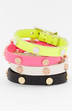 MARC BY MARC JACOBS 'Turnlock' Leather Bracelet at Nordstrom
