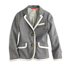 J.Crew+-+Girls'+schoolboy+blazer+in+tipped+flannel