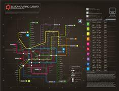 Neon Subway map