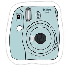 Polaroid camera - Fujifilm Instax Mini Sticker by cordiallylily - Schoenen/ kleding achtergronden Fujifilm Instax Mini, Polaroid Camera Fujifilm, Mini Polaroid, Camera Lens, Nikon D5200, Dslr Nikon, Stickers Cool, Red Bubble Stickers, Camera Drawing
