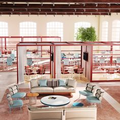 "10 office furniture designs that prove ""the desk has had its day"" Office Furniture Design, Workspace Design, Office Interior Design, Office Interiors, Office Decor, Office Designs, Furniture Ideas, Design Blog, Design Studio"