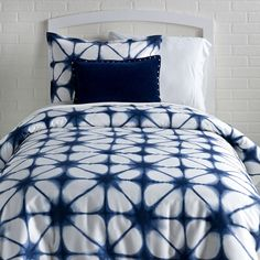 Dormify 100% Cotton Indigo Tie Dye Duvet Cover & Sham Set (Blue, Twin/Twin XL)