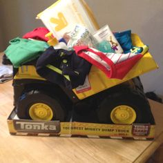 Baby boy shower gift. Every boy needs his 1st tonka!