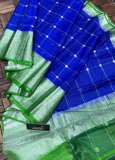 Plain Saree, Organza Saree, Frocks, Sarees, Contrast, Blouse, Pattern, Fabric, Image