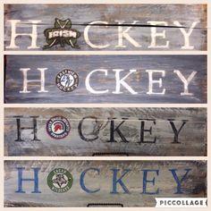Custom hand painted hockey sign