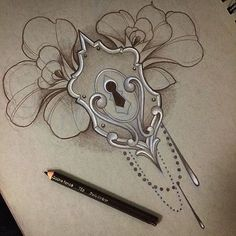 replace flowers with something poisonous, then it would be a perfect sternum piece... Yes, I think I may have to do this one.
