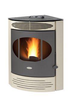 Pellet heating stove / contemporary / steel / earthenware - S7 - FAIR srl