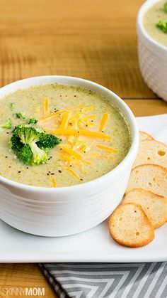 Lightened-up Broccoli and Cheddar Soup.
