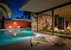 Mid century Rancho Mirage are two phrases comely found together. The Kenaston Residence by E. Stewart Williams built in 1957 is currently on the market.