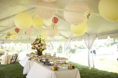 Outdoor tent decoration. Class of 2013 graduation celebration. Amy Zaroff Events + Design. Photography by: Matt Blum Photography