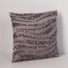 """Donna Karan Modern Classics Haze Crystal Wave Decorative Pillow, 9"""" x 9"""""""