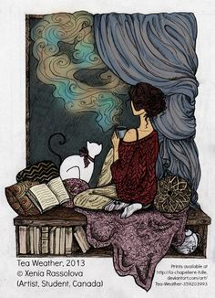 Tea Weather, 2013 Xenia RASSOLOVA (Artist, Student. Canada) aka via deviantArt. Prints available at link. Artists need to eat too!  Promote the arts (& artists). ... Copyright law requires that you credit the artist. List/Link directly to artist's website. COPYRIGHT LAW: http://pinterest.com/pin/86975836525792650/  REAL LIFE:  http://pinterest.com/pin/86975836525987875/  HOW TO FIND the ORIGINAL WEB SITE of an image: http://pinterest.com/pin/86975836525507659/