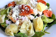 The Cook Next Door: Tortellini Spinach Salad with Balsamic-Tomato Vinaigrette