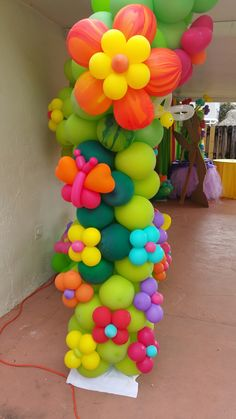 Shower Set, Baby Shower, Balloon Columns, Small Baby, Balloon Decorations, Tinkerbell, Balloons, Tropical, My Favorite Things
