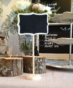 Table # Chalkboard Freestanding