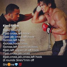 Boxing workout on bags