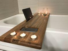 Badewannenbrett Bath Bathtub Caddy Bath Tray Wood Bathtub Caddy Wood Warm up with Firewood Article B
