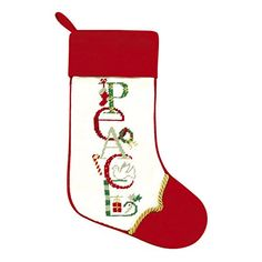 33d34dffb Amazon.com  Needlepoint Stocking - Peace  Cell Phones   Accessories