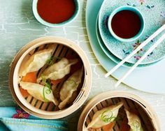 Nic Watt makes a duo of delicious Japanese dumplings filled with seafood and beef for a fantastic Asian appetiser Japanese Gyoza, Japanese Food Sushi, Japanese Dinner, Japanese Dumplings, Asian Recipes, Healthy Recipes, Japanese Recipes, Asian Foods, My Favorite Food