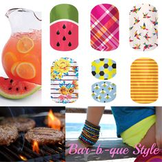 Complete your backyard BBQ style for Jamberry Nails at www.janahernandez.jamberrynails.net