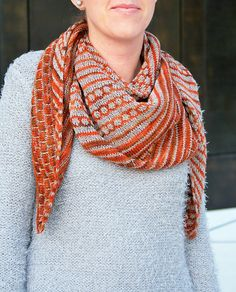 Hoku shawl by Jana Huck   malabrigo Rastita in Volcan and