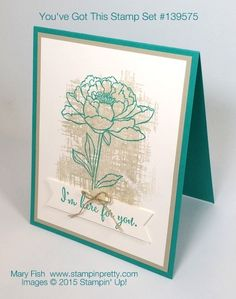 Stampin' Up! You've Got This Sympathy Card idea by Mary Fish Stampin Pretty