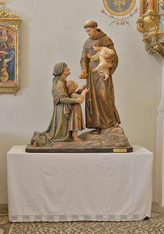 St Anthony of Padua   http://www.saintnook.com/saints/anthony-of-padua/   File:San Antone da pan ai pueresc Jakob Crepaz-Maidl.jpg