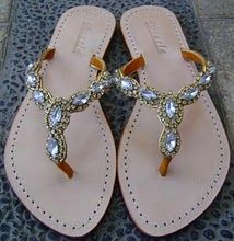 blingy flip flops and this could be a DIY project