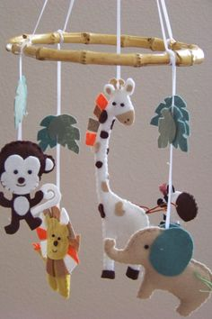 Baby Mobile  Baby Crib Mobile  Jungle  Mobile  by lollipopmoon, $60.00