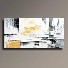 ABSTRAKTE MALEREI SCHWARZ WEIß GELB-GRAU-MALEREI GROßE MODERNE WAND KUNST ORIGINAL ZEITGENÖSSISCHE LEINWAND KUNST ACRYL MALEREI HOME DECOR Dies ist ein original Acrylbild auf Leinwand UNGEDEHNT. Das versenden direkt aus meinem Atelier. Zum Schutz von Malerei gut beim internationalen Versand