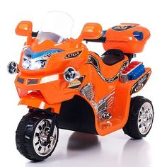 Lil Rider FX 3 Wheel Motorcycle Bike Battery Powered Riding Toy - Orange - Built tough for use on grass and pavement, the Lil Rider FX 3 Wheel Battery Powered Bike - Orange is a blast to ride with fun sound effects and. 3 Wheel Motorcycle, Kids Motorcycle, Motorcycle Battery, Power Bike, Power Wheels, 3rd Wheel, Ride On Toys, Outdoor Toys, Toys For Boys