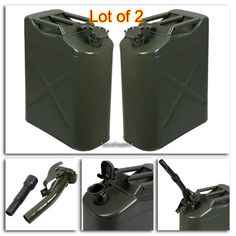 details about jerry can holder 5 gallon 20l gas fuel army nato military metal steel tank black. Black Bedroom Furniture Sets. Home Design Ideas