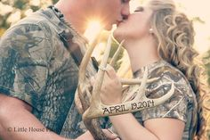 Fun engagement photo ideas with Camo and hunting