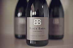 Black Barn wine from Hawkes Bay, New Zealand Havelock North, Black Barn, Wine Brands, Pinot Noir, Fine Wine, Kiwi, Wines, Bottles, Branding