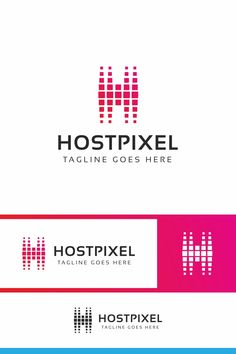 """Hostpixel : multifunctional logo """"H"""" letter logo that can be used in technological companies, in companies and applications for software development, Data Logo, Retail Logo, Letter Logo, Software Development, Logo Templates, Behance, Lettering, Logos, Multifunctional"""