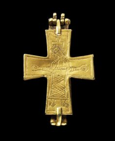 Gold cross Europe, 12th century.