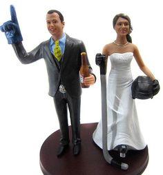 #1 Hockey Fans Wedding Cake Topper - BobbleGr.am