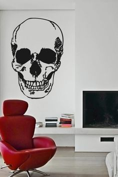"""Human Skull"" Wall Decals by WALLTAT.com"